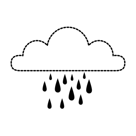 Weather cloud rainy icon vector illustration design.