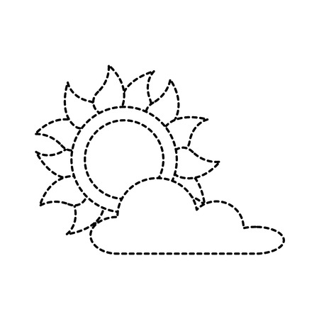 summer sun with clouds vector illustration design