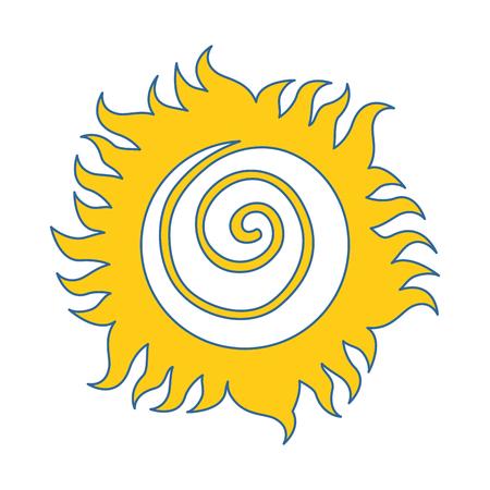 summer sun drawing icon vector illustration design Stock Photo