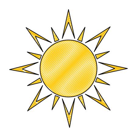 夏の太陽孤立アイコンベクトルイラストデザイン  イラスト・ベクター素材