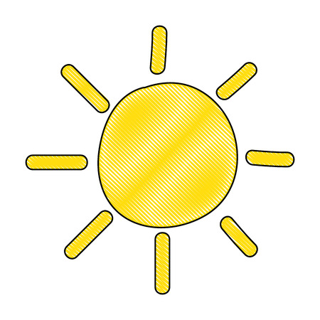 summer sun drawing icon vector illustration design Ilustracja