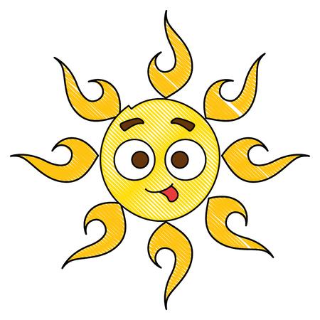 summer sun crazy  character vector illustration design