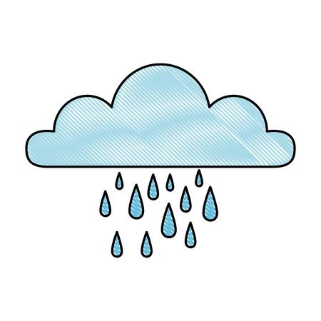 天気雲雨アイコンベクトルイラストデザイン。