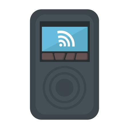 Gadget with internet signal illustration design. Çizim