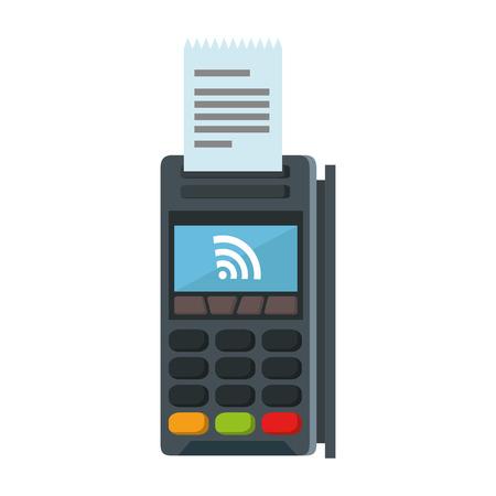 Credit card machine reader illustration.