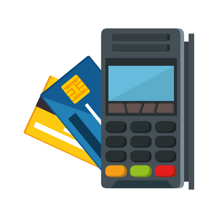 voucher machine with credit card vector illustration design Stock Vector - 92411680