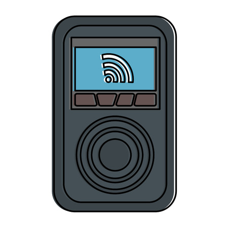 gadget  with signal illustration design. Çizim