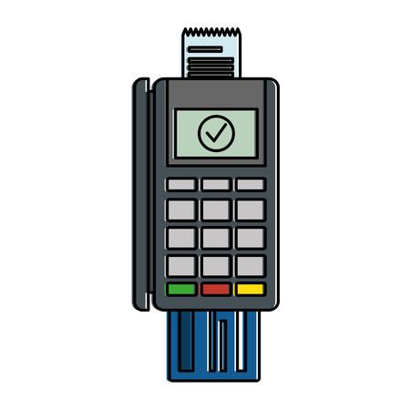 Credit machine card illustration design.