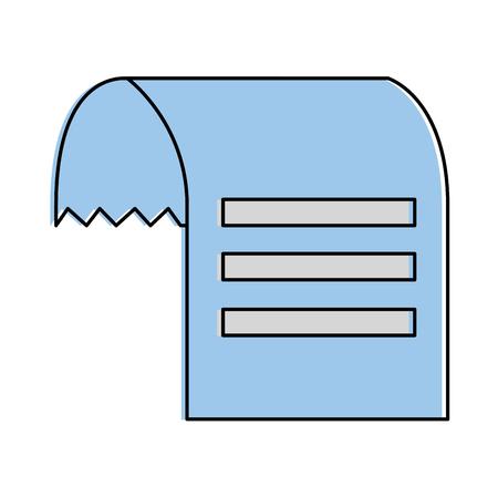 voucher papier geïsoleerd pictogram vector illustratie ontwerp