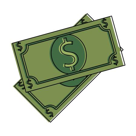 Vector de illustratieontwerp van het rekeningendollars geïsoleerd pictogram.