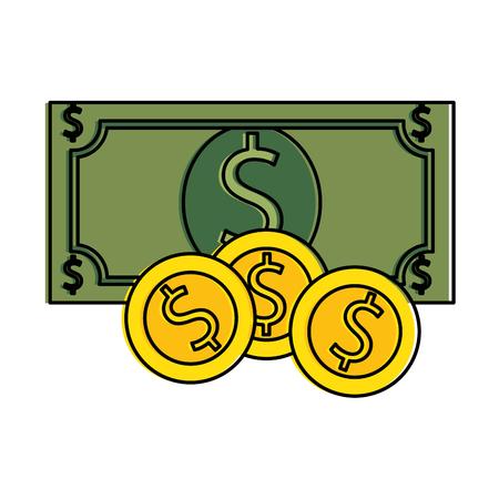 Bill dollar money icon vector illustration design.