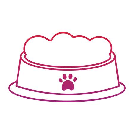 애완 동물 아이콘 이미지 벡터 일러스트 디자인을위한 음식 그릇 일러스트