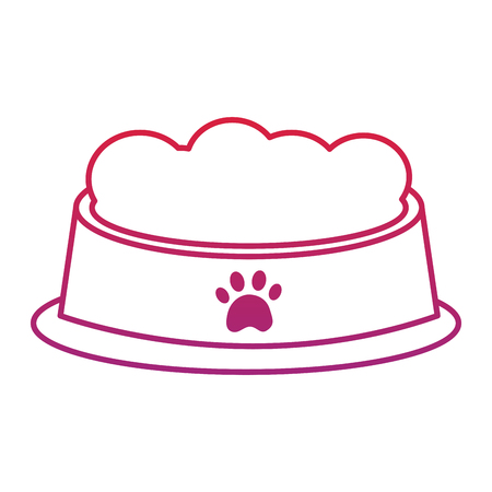 Food bowl for pet icon image vector illustration design
