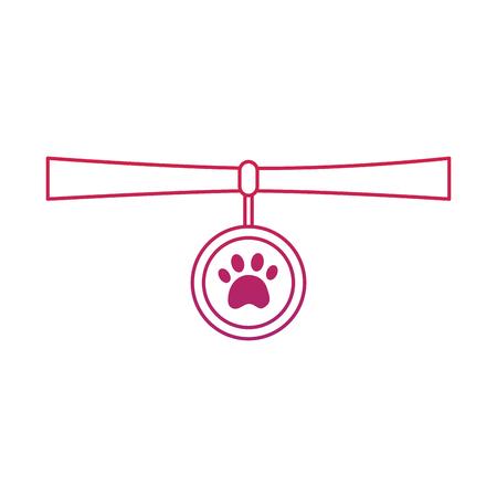 Collar pet icon image vector illustration design Ilustração