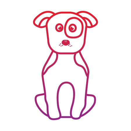 강아지 또는 강아지 애완 동물 아이콘 이미지 벡터 일러스트 디자인