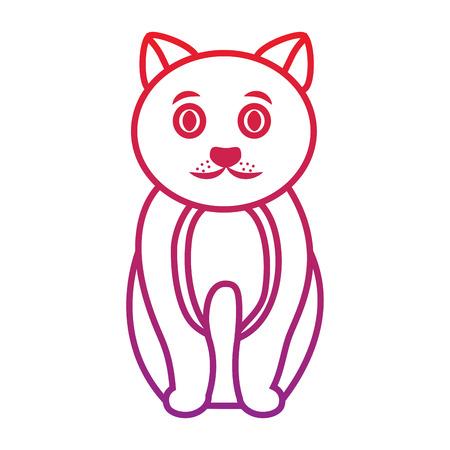 cat cartoon pet icon image vector illustration design