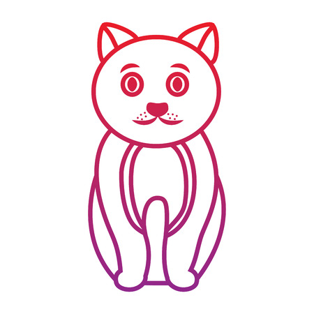 cat cartoon pet icon image vector illustration design