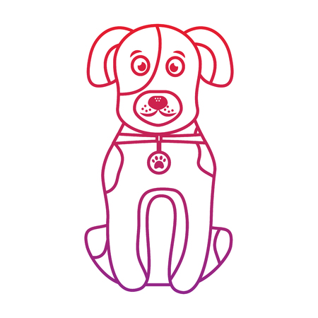 Dog or puppy pet icon image vector illustration design