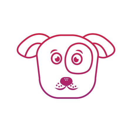 Dog or puppy pet icon image vector illustration design