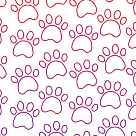 Paws pet pattern image vector illustration design 向量圖像
