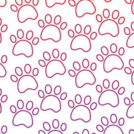 Paws pet pattern image vector illustration design Illustration