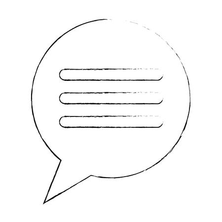 Speech bubble isolated icon vector illustration design.