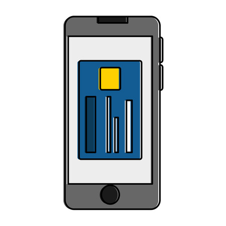 Smartphone device with credit card illustration design.