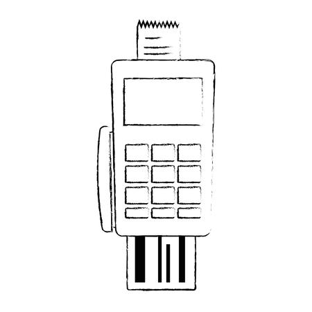 Voucher machine with credit card illustration design. Stock Vector - 92489179