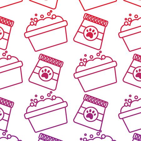 Tub and food pet pattern image vector illustration design