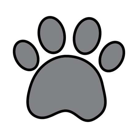 Paw print pet icon image vector illustration design
