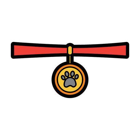 칼라 애완 동물 아이콘 이미지 벡터 일러스트 디자인