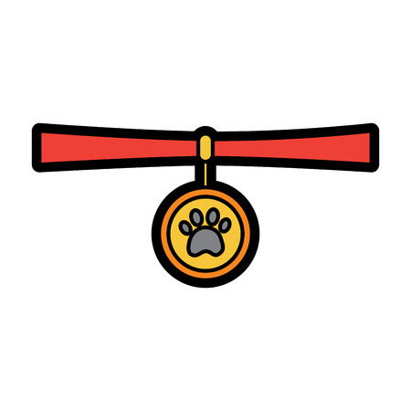 Collar pet icon image vector illustration design Illustration