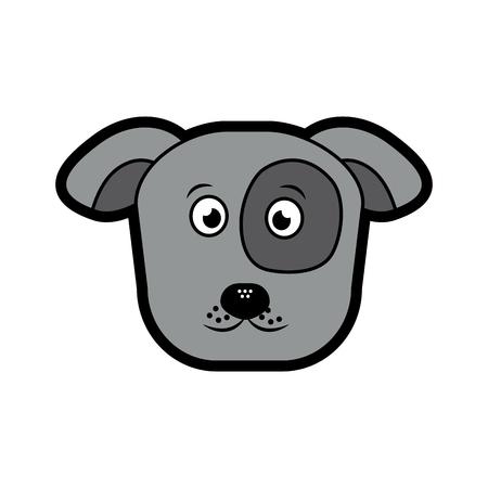 dog or puppy pet icon image vector illustration design  向量圖像