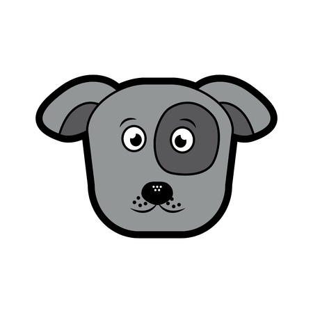 dog or puppy pet icon image vector illustration design  Illustration