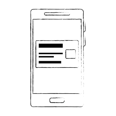 smartphone device with credit card vector illustration design