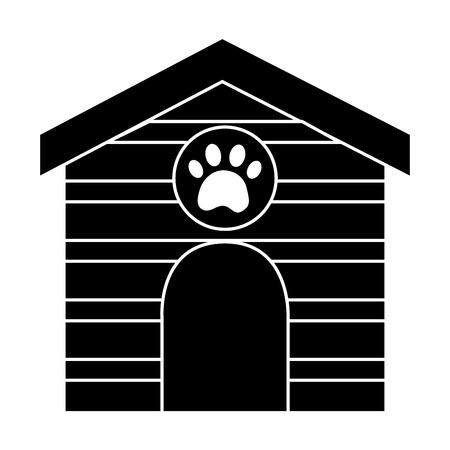 Il nero di progettazione dell'illustrazione di vettore di immagine dell'icona della casa dell'animale domestico Archivio Fotografico - 92413928