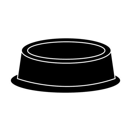 Food bowl pet icon image vector illustration design black