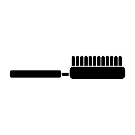 brush hairdressing icon image vector illustration design  black