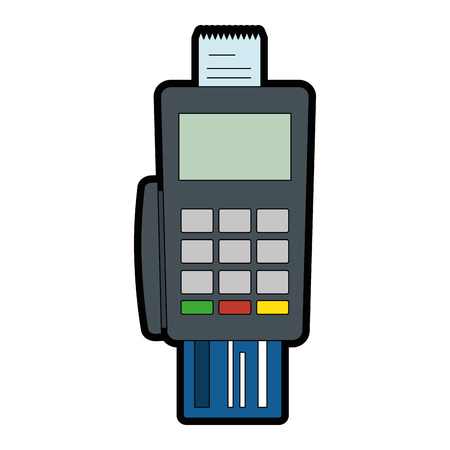 voucher machine with credit card vector illustration design Stock Vector - 92413842