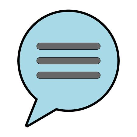 Speech bubble isolated icon vector illustration design