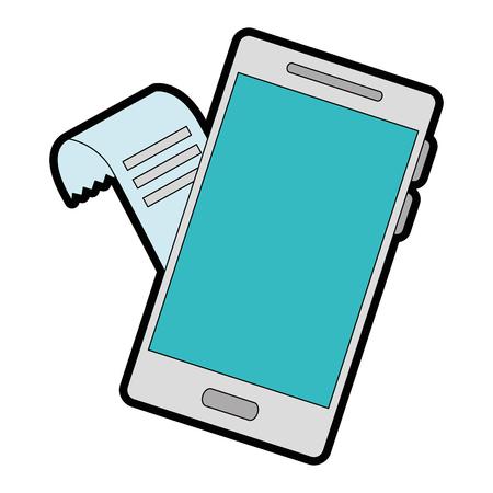 Smartphone device with voucher vector illustration design