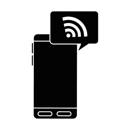 Phone device with signal illustration design.