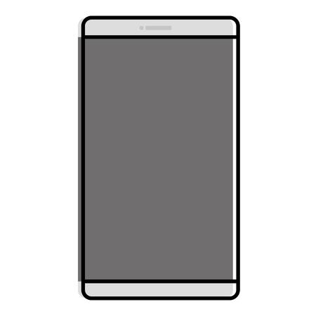 스마트 폰 장치 격리 된 아이콘 벡터 일러스트 레이 션 디자인.