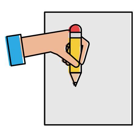 Hand human writing icon vector illustration design. Illustration