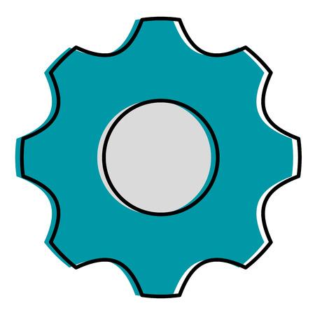 Gear isolated icon illustration design. Фото со стока - 92482180