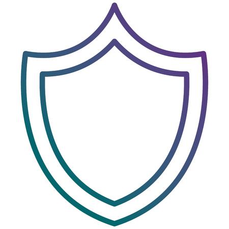 Shield with safe secure padlock vector illustration design