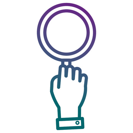 Hand with magnifying glass isolated icon vector illustration design. Ilustração