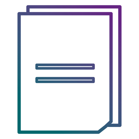 Documents paper isolated icon vector illustration design. Illustration