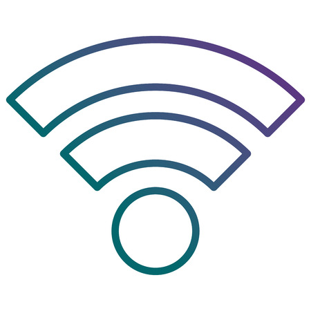 Wireless network signal isolated icon vector illustration design