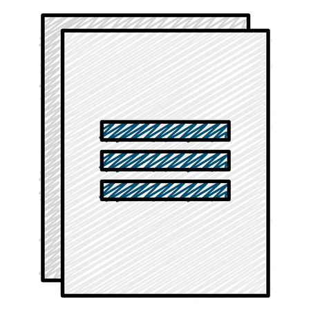 Documents paper isolated icon vector illustration design Illustration
